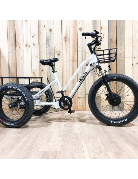 fatbike tricycle electrique blanc